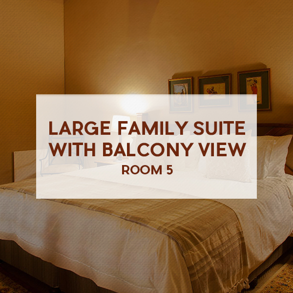 Large family suite with balcony view